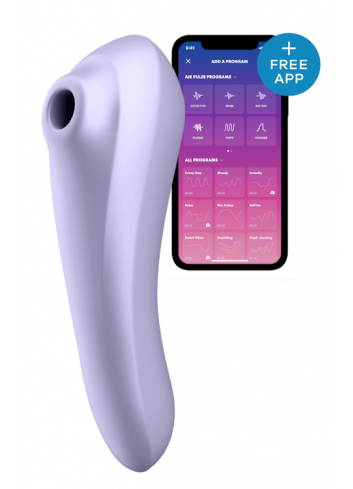 Dual pleasure bezdotykowy masażer łechtaczki z wibracjami sterowany telefonem